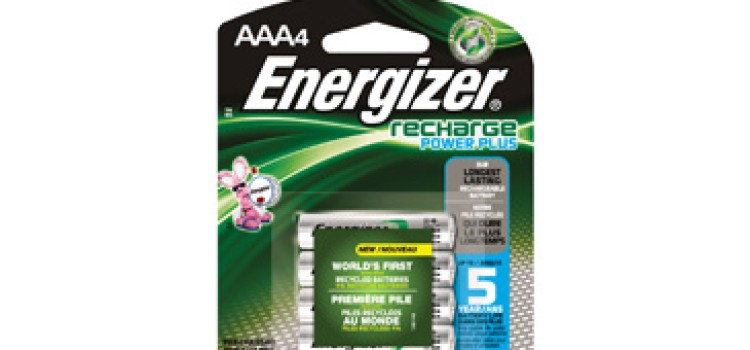 Rechargeable (and recycled) Energizer batteries debut