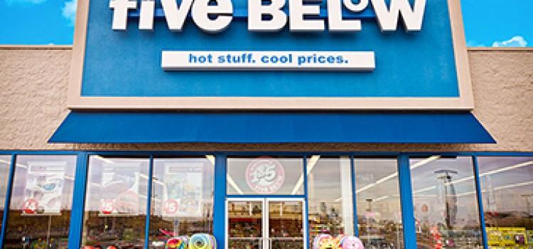 Five Below opens stores in California