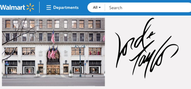 Walmart to launch online Lord & Taylor store