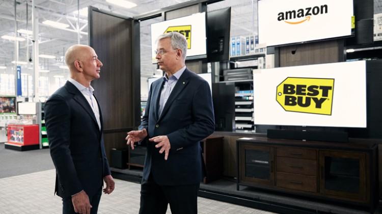 Amazon partners with Best Buy