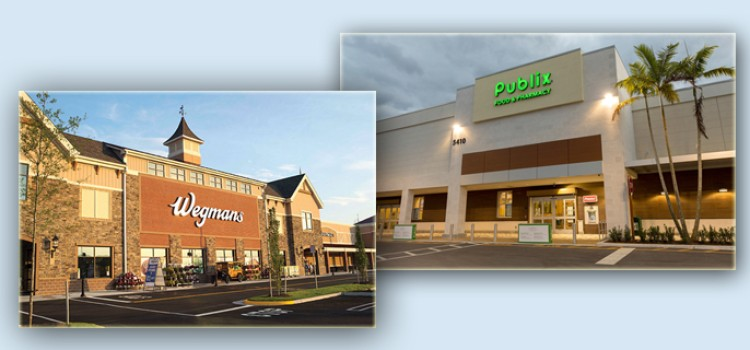 Wegmans, Publix honored as top places to work