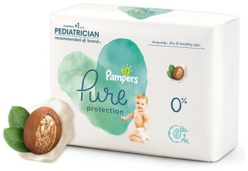 Pampers Pure features plant-based liner enriched with shea butter