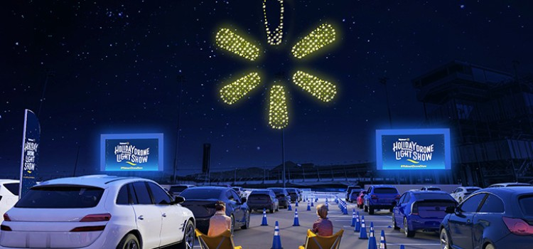 Walmart offers light show powered by drones