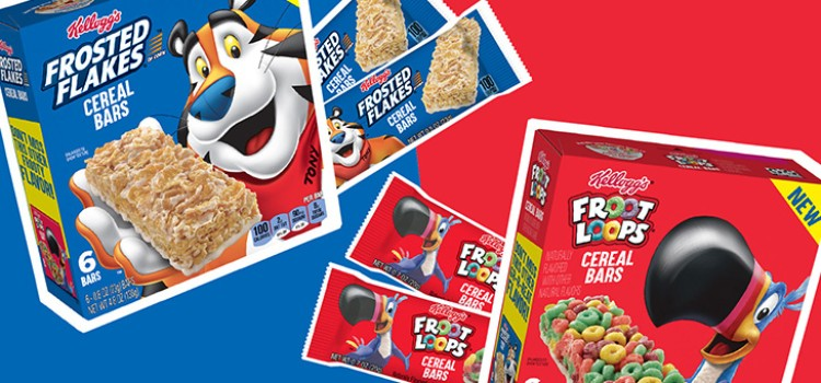 Classic Kellogg's brands debut as cereal bars