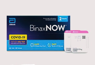 Walgreens selling Abbott's BinaxNOW test